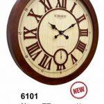 ساعت دیواری چوبی کد 6101