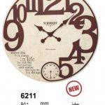 ساعت دیواری چوبی کد 6211