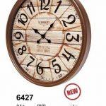ساعت دیواری چوبی کد 6427